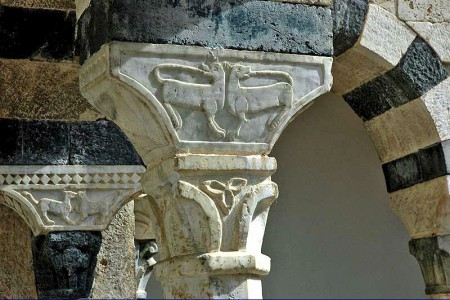 Abbey of Santa Mustiola capital