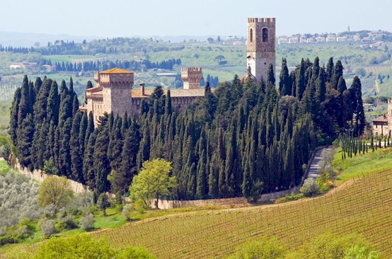 The photogenic abbey known as Badia a Passignano
