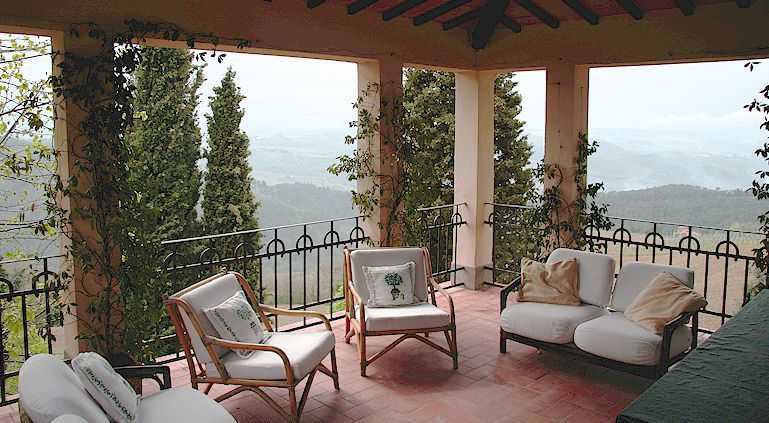 Tuscan villa to rent in central Chianti at Lamole