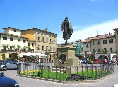 The main piazza of Greve in Chianti, Tuscany