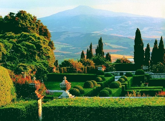 The garden of Villa La Foce, created by Cecil Pinsent for Iris Origo