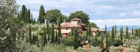 A beautiful Chianti farmhouse built over the centuries around a mediaeval tower.