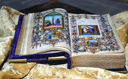 Illuminated manuscript in the Biblioteca Medicea Laurenziana