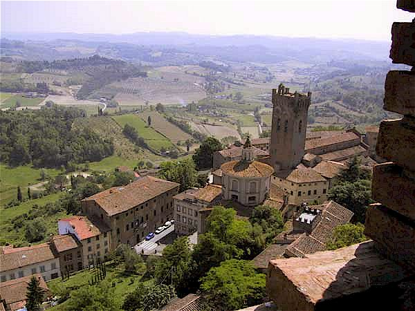 San Miniato in Tuscany, location of a great truffle fair during November
