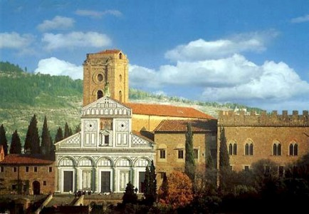 Basilica of San Miniato al Monte, above Florence in Tuscany, Italy