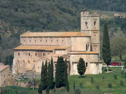 Abbey of Sant'Antimo near Montalcino, Tuscany