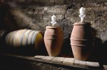 Wine making in terracotta jars