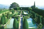 The garden of the Villa Gamberaia in Tuscany near Florence