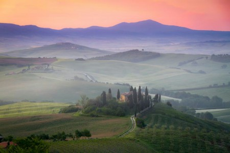 Dawn in the Val d'Orcia