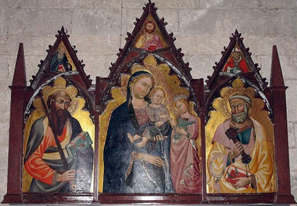 Triptych by the Maestro di Panzano in San Leolino